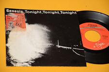 "GENESIS 7"" 45 TONIGHT 1°ST ORIG ITALY 1987 DISCO EX"