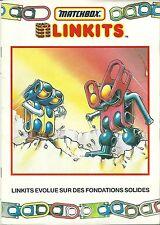 Catalogue Matchbox Linkits 1986 jeu d'assemblage jouet toy
