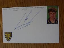 1995/1996 Republic Of Ireland Autographed White Card: Cunningham, Kenny (Wimbled