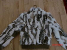 Women rabit fur jacket, M.Animal Print, Multi-Color, Rabbit and Wilsons Leather