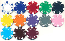 100 CLAY DICE POKER CHIPS Custom SET 11.5 gram 13 Colors Your Choice FREE SHIP*
