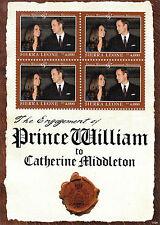 Sierra Leone 2011 MNH Royal Engagement 4v M/S Prince William Kate Royalty Stamps