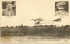 CARTE POSTALE AVIATION PARIS MADRID 1911 LE DEPART M.TRAIN ET BONNIER CHUTE