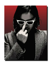 *Jared Leto - Thirty Seconds to Mars - Vector Canvas Art Print Cool*