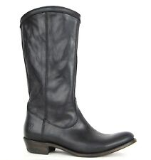FRYE BOOTS Rider Pull On Black Smooth Leather Riding Boots SZ 9.5 $352