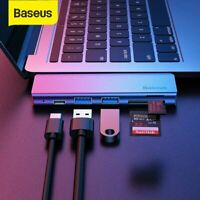 Baseus 5 in 1 USB C Hub Typ C SD TF Kartenleser Adapter USB 3.0 für MacBook Pro