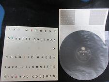 Pat Metheny Ornette Coleman Song X Japan Promo Label Vinyl LP Jazz Guitar ECM