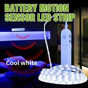 Smart Turn ON OFF PIR LED Strip Motion Sensor Battery Light Tape Closet Stairs
