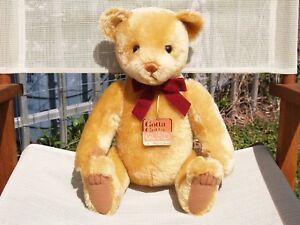 """GUND- MOHAIR ANDREW BEARKIN TEDDY BEAR- #9654- 16 1/2""""-1996- VERY NICE- ALL TAGS"""