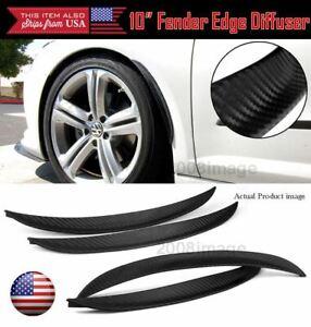 "4 Pcs 10"" Carbon Fiber Effect Diffuser Flare Lip Trim For BMW Wheel Fender Edge"
