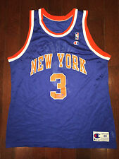 JOHN STARKS Vtg RARE 90's New York Knicks NBA CHAMPION Jersey ewing Sz 48