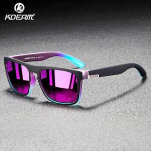 KDEAM Square Sports Polarized Sunglasses for Men Women Outdoor Driving Glasses