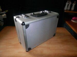Small Aluminum Hard Briefcase Camera Case Executive Office Tool Box Padded Locks