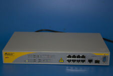 Allied Telesis AT-8000/8POE 8 Port Managed Fast Ethernet Switch 8X 10/100/1000