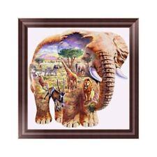 DIY 5D Diamant Broderie La peinture Éléphant Point de croix Décoration murale