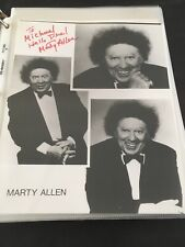 "Marty Allen! Autographed 8x10"" Photo. 90's Headshot. Ships Immediately!"