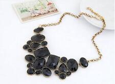 Fashion Vintage Choker  Black Gold Statement Pendant Retro Necklace UK Seller