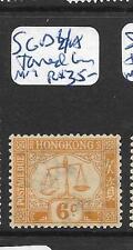 HONG KONG   (PP2705B) POSTAGE DUE 6C  SG D4A  TONED GUM  MOG