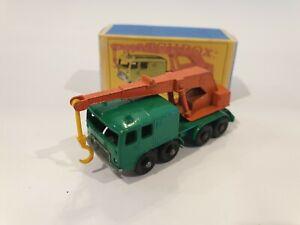 Matchbox Regular Wheels No 30 Faun 8 Wheel Crane bonus repro box