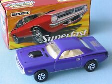 Matchbox Superfast Plymouth Cuda Hershey Convention Purple Boxed Muscle Car USA