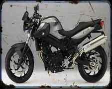 Bmw F800R 11 5 A4 Metal Sign Motorbike Vintage Aged