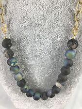 Unique Natural Multicolor Heavy Beads Gemstone Necklace Gold Chain #C