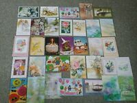 Lot of 33 Unused Vintage Greeting cards OLYMPIA INC.~ USA made~NO ENVELOPES