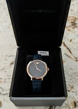 Brand New Emporio Armani Women's Watch Stainless Steel Gold Blue $195.00