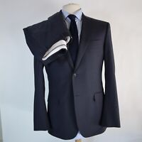 Canali 2 Button Blue Wool Striped Suit Size 42L US 52L EU Made in Italy