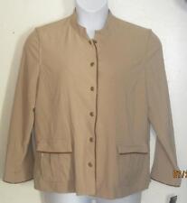 New NWT Norton Studio 16 Petite 16P beige tan jacket blazer  msrp  $58 j119