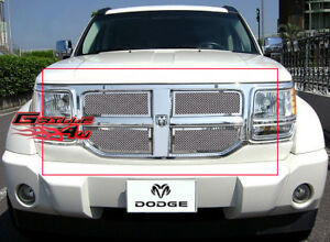 Stainless Steel 1.8mm Mesh Grille For 07-11 2011 Dodge Nitro