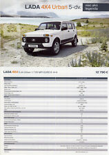 2018 MY Lada 4x4 Urban 5 do 10 / 2017 catalogue brochure Slovakia Slovaquie Niva