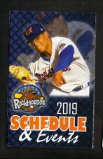 Midland Rockhounds--2019 Pocket Schedule--True Texas BBQ--Athletics Affiliate