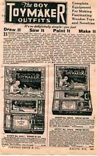 1929 small Print Ad of The Boy Toymaker Outfits draw it saw it paint it make it