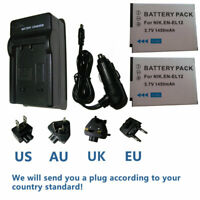 EN-EL12 Battery/Charger for Nikon Coolpix A1000 B600 P310 P330, P340 AW100 AW110