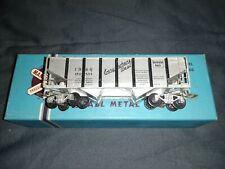 Mantua All Metal Hopper Car, 9458 Burlington Route Brass and Aluminum Sides +Box