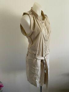 Patrizia Pepe Firenze Shirt Dress Size EUR 46 AUS 12 Button up Beige Italy Cadet