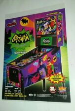BATMAN 66 original pinball laminated game flyer advert