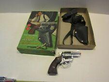 VINTAGE MATTEL TOY SNUB NOSE 38 & SHOULDER HOLSTER IN BOX PLAY CAP GUN DETECTIVE
