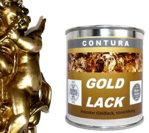 Goldlack Bilderrahmen Möbel Goldfarbe 6,20€100ml Lack 125ml Effektlack Blattgold