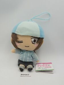 "Girls und Panzer B0507 Mika Furyu Strap Mascot Plush 6"" Toy TAG Doll Japan"