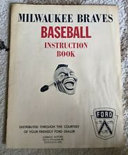 Vintage 1960's Milwaukee Braves Instruction Book