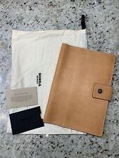 New! $195 SHINOLA Detroit Med Natural Essex Tan Leather Journal Ipad Mini Cover.