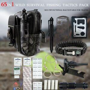 SURVIVAL KIT Überlebensset 65 in1 Outdoor Notfall Camping Taktische EDC Tool Set