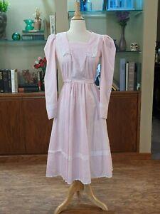 Pale Pink Candi Jones Cottagecore Prairie Dress Size 9