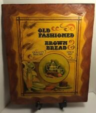Vintage Old Fashioned Brown Bread, Hand Made Wooden Sign.