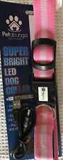 Petabunga Super Bright LED Dog Collar, Large, Pink