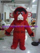 Easter Cartoon Long Fur Bull Mascot Costume Party Dress Advertising Carnival