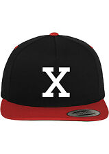 MALCOLM X CUSTOM SNAPBACK HAT BASEBALL CAP NEW - BLACK w/ RED BILL