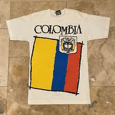 Vintage Colombia T-Shirt 90s Size Small Single Stitch USA